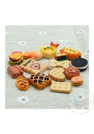 Biscuits and Cookies - Mixed Pack of Cabochon - 50 pcs