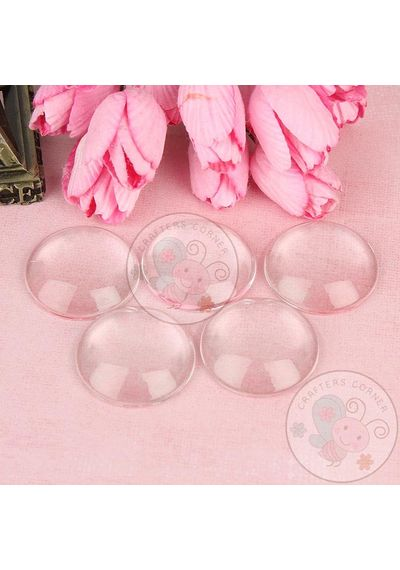 Clear Glass Round Cabochons No 16