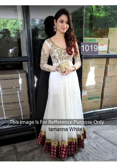SALWAR.UK B478Slawarr.com Tamanna White Glamorous Bollywood Designer Gown
