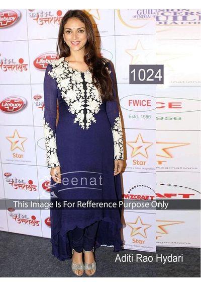 SALWAR.UK Aditi Rao Blue Devine Bollywood Designer Suit