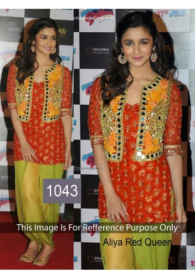 SALWAR.UK B126Beautiful Aliya Red Designer Bollywood Suit