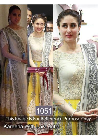 SALWAR.UK Georgeous Karina Yellow Designer Bollywood Suit