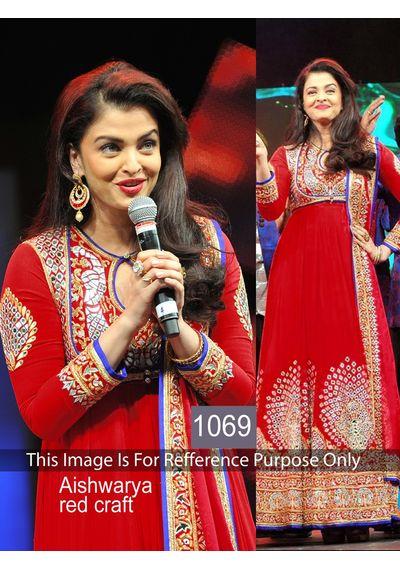 SALWAR.UK B481Smashing Aishwariya Red Designer Bollywood Suit