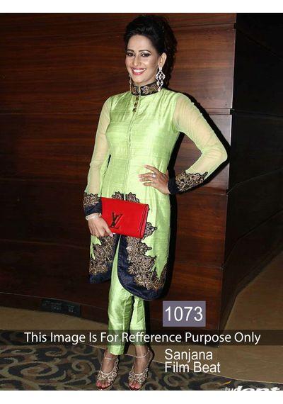 SALWAR.UK Beautiful Sanajana Green Beauty Bollywood Suit