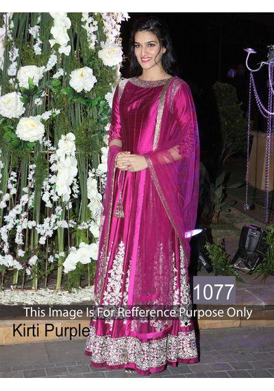 SALWAR.UK B356 Nice Looking Kriri Purple Designer Bollywood Suit