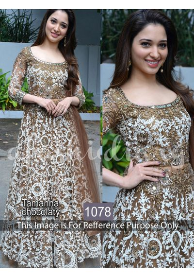 SALWAR.UK B239Georgeous Tamanna Chocalaty Designer Bollywood Suit