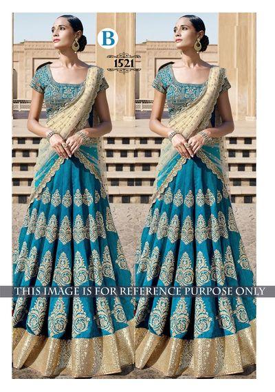 SALWAR.UK Blue Designer Lehenga Choli