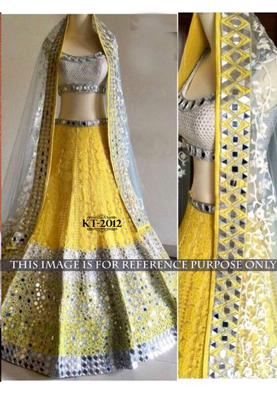 SALWAR.UK Yellow Designer Lehenga Choli