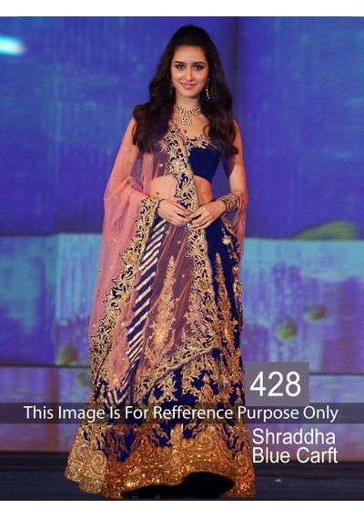 SALWAR.UK B464 Shraddha Blue Craft Designer Lehenga Choli