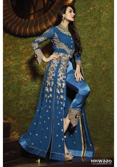 A161 SALWAR.UK BOLLYWOOD GLAMOUR BY MALIKA BLUE 6202