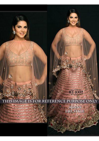 SALWAR.UK Light Pink Designer Lehenga Choli