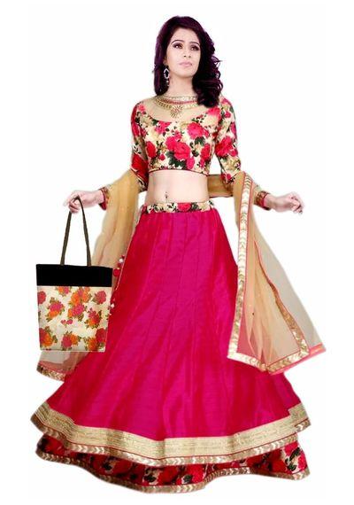 SALWAR.UK Gullabo -2 Red Designer Lehenga Choli