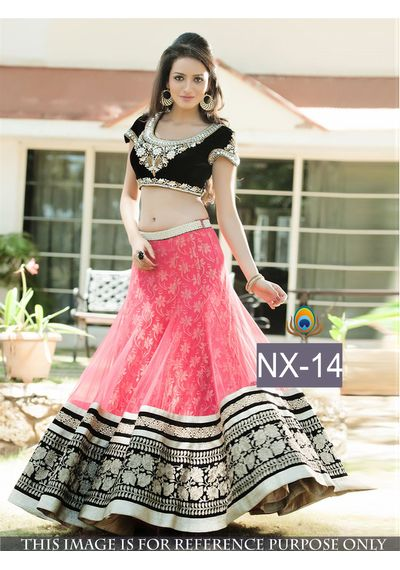 SALWAR.UK Light Pink Designer Lehenga Choli