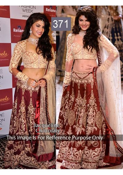 SALWAR.UK Jequlin Chocolety Heavy Designer Lehenga Choli