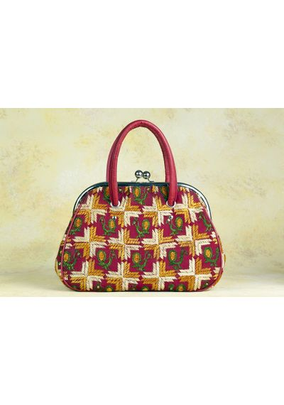 Phulkari Retro Handbag - design C