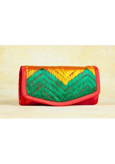 Phulkari  2 Zip Wallet