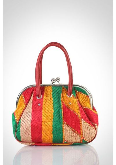 Phulkari Retro Handbag - design A