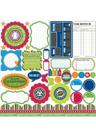 Jillibean Soup - Game Day Chili - Coordinating Diecut Shapes (Pea Pods) - 43 Pieces