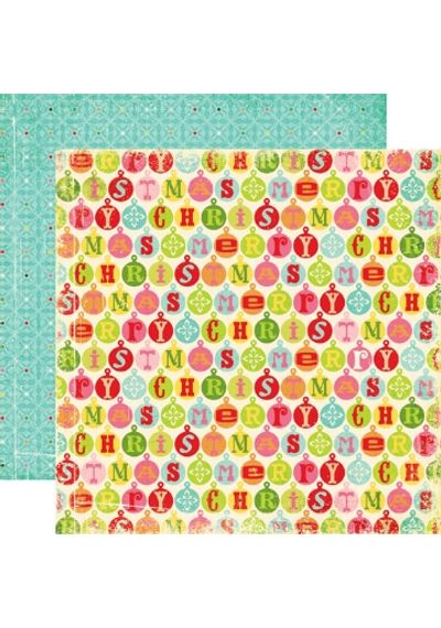 Echo Park - Everybody Loves Christmas - Christmas Bells paper  - 12X12 Paper
