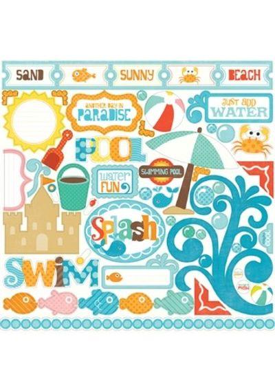 Echo Park - Splash - Element Stickers  - 12x12 Sticker