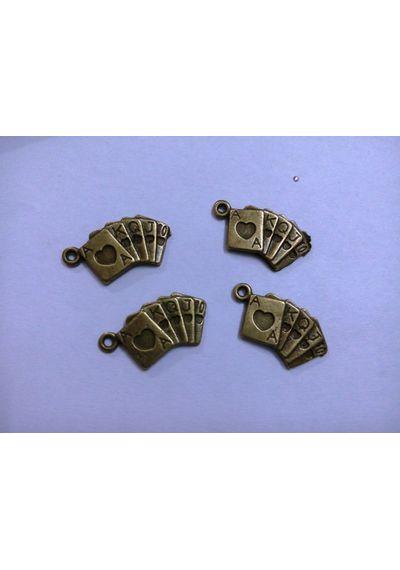 Bronze Poker Charms  25x13x3mm (5 pcs)