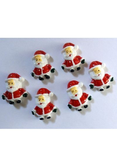 Christmas Santa Claus Resin Flatback Scrapbook Embellishment (Pack of 3)