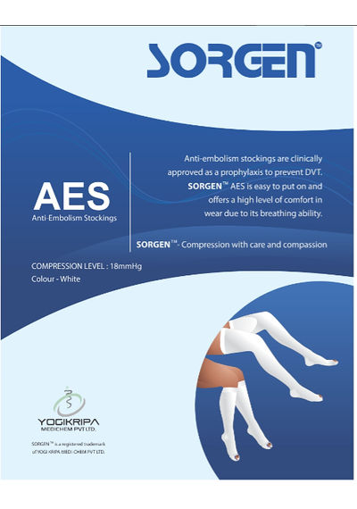 Sorgen™ AES Stockings -(18 mm Hg) Knee Length (AD) (Anti-Dvt)