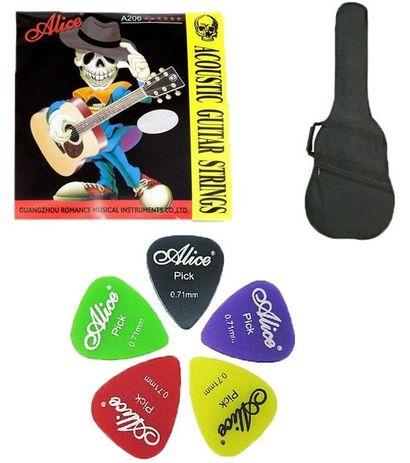 SG Musical Guitar Case and Alice Guitar Strings & 5 Alice Picks