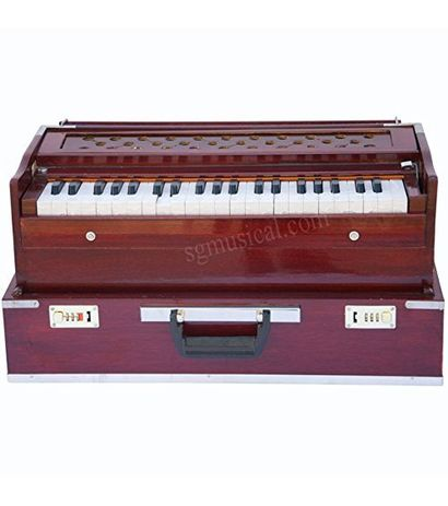SG Musical - Folding Harmonium Rosewood Coupler Free Padded Bag
