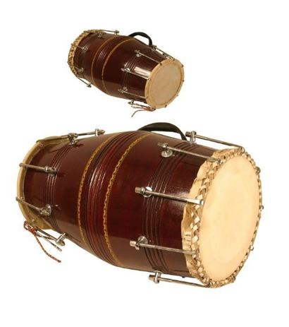 Mumbai Style Nut And Bolt Dholak Blemished Free Carry Bag by SG Musical