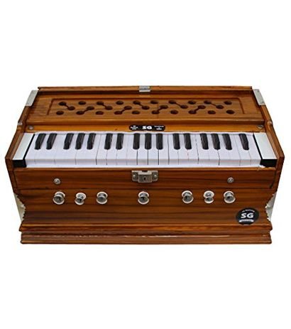 SG Musical - 7 Stopper Harmonium -/Yellow Teak