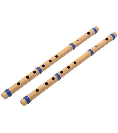 SG Musical Palace Set Of 2 Flute Bamboo G Scale (Natural)