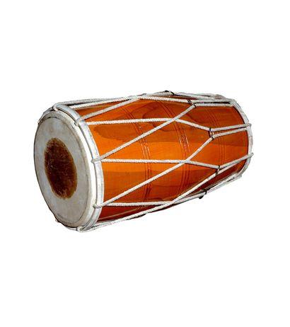 SG Musical Handmade Wooden Dholak Indian Folk Musical Instrument Drum Tied Thru Rope