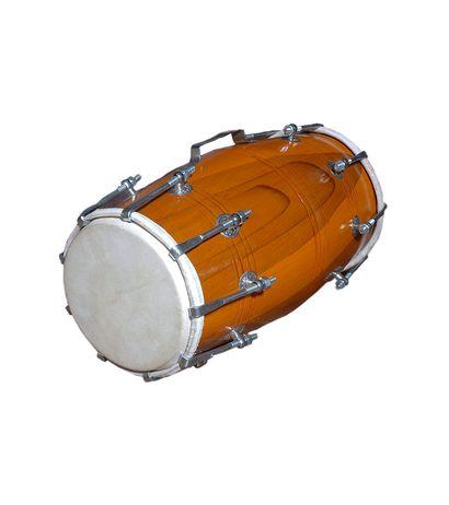 SG Musical HANDMADE WOOD DHOLAK INDIAN FOLK MUSICAL INSTRUMENT DRUM NUTS N BOLT