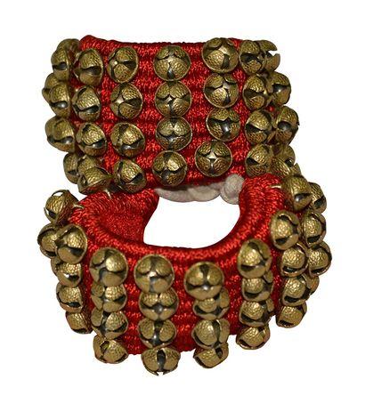 SG Musical Dancing Bells 4 line Ghungroo Pair Handmade Indian Classical Dance Accessories