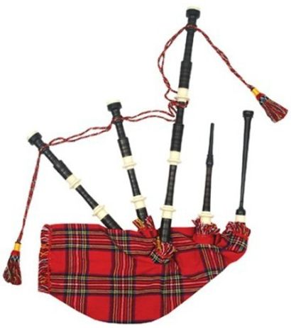 SG Musical Bagpipes Rosewood Cover Syn. Bag(Red)