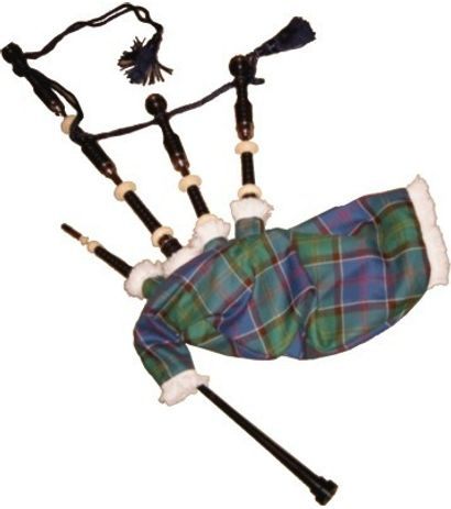 SG Musical Bagpipes Black Wood Great Highland Bagpipes Ivory Ferules And Engraved