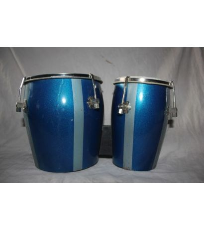 SG Musical Bongo Drum Blue With Central Tuning Key