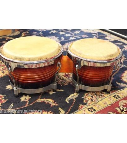 Beingdeal Matador Custom Wood Bongos Black Hardware/Vintage Sunbrust