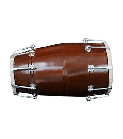 SG Musical Dholak, Mango Wood, Bolt-Tuned, With Tuning Spanner Free Carry Bag