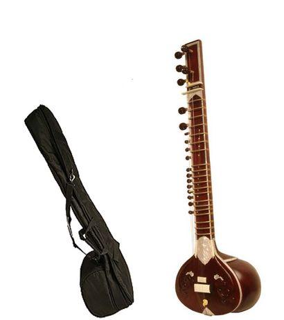 Sg Musical Munda Sitar Gandhar Pancham Tun Wood With Free Carry Case.