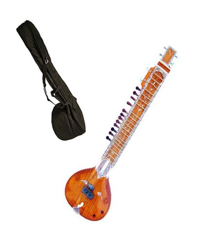 Sg Musical Electric Sitar Kharaj Pancham Vol & Tone Controls With Free Carry Case.