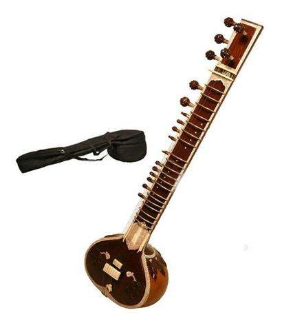 SG Musical sitar Dark Wood Colour With Free Carry Case.
