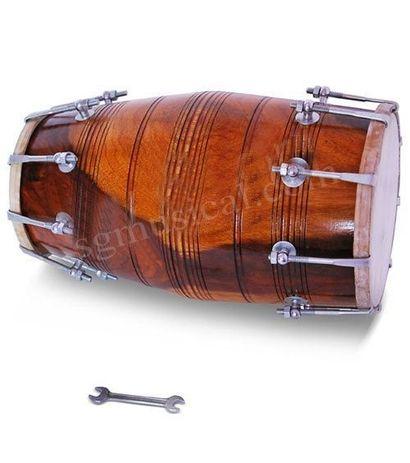 SG Musical Bolt-Tuned Dholak, Shesham Wood, Free Carry Bag,Tuning Spanner