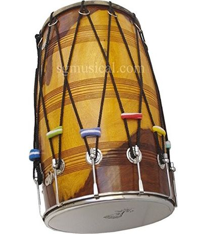 SG Musical Deluxe Bhangra Dhol Sheesham Wood Free Padded Carry Bag