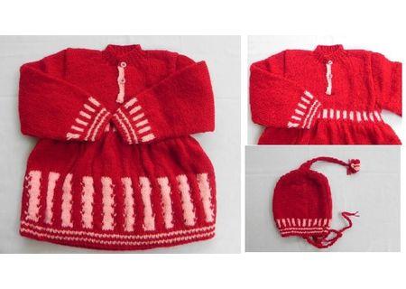 24 Months -  Handmade Baby Woolen Sweater Set BW06