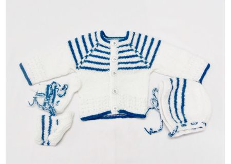 0 - 3 Month Handmade Baby Woolen Sweater Set BS01