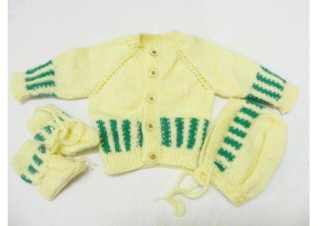 6 - 8 Months - Handmade Baby Woolen Sweater Set BS09