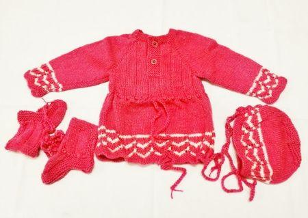 12 Months   Handmade Baby Woolen Sweater Set BS21
