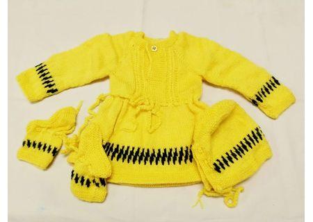 12 Months -  Handmade Baby Woolen Sweater Set BS24